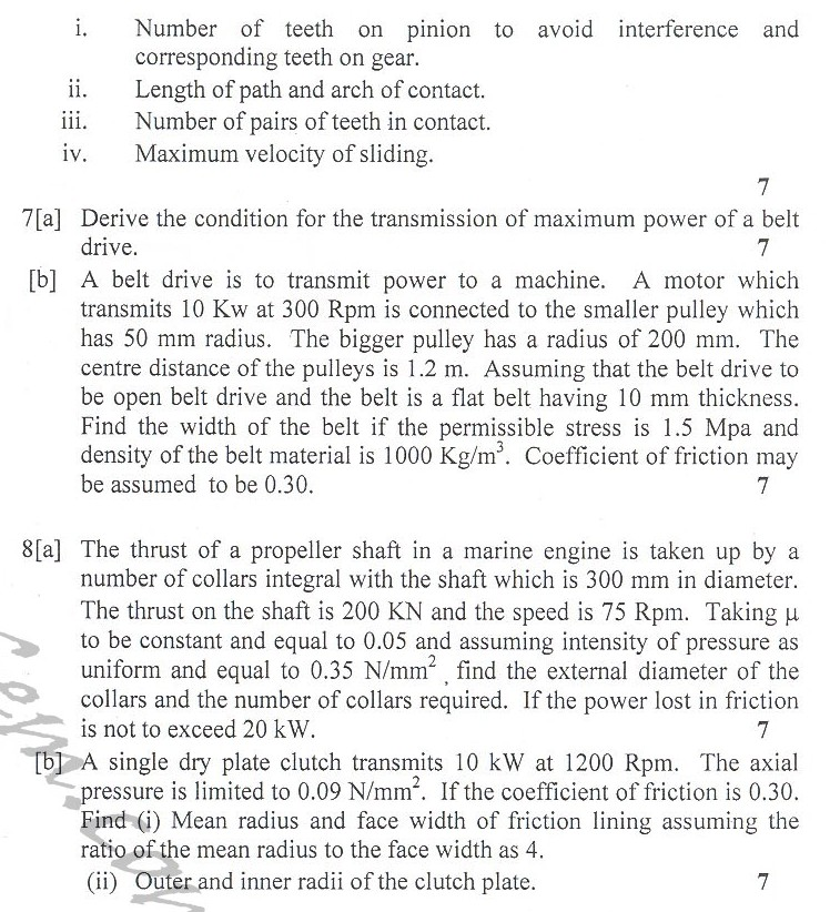 DTU Question Papers 2010 – 4 Semester - End Sem - ME-213