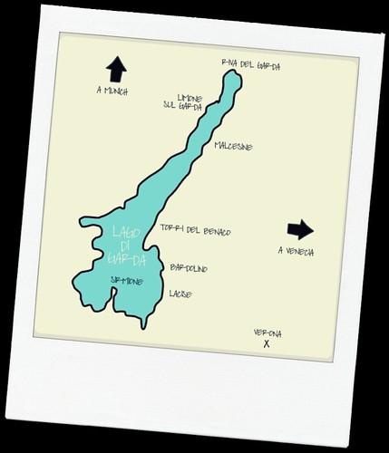 Mapa Gardasee polaroid