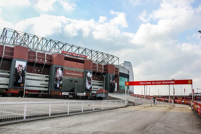 Old Trafford, estadio del Manchester United, Mánchester, Reino Unido.