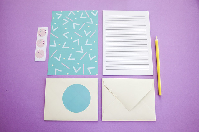 torquoise stationery set_5