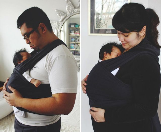 DIY stretchy sling for newborn