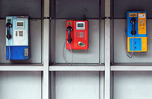 Public telephones, Jakarta