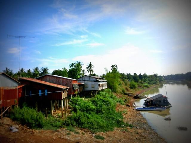 A fishing village near Battambang, Cambodia