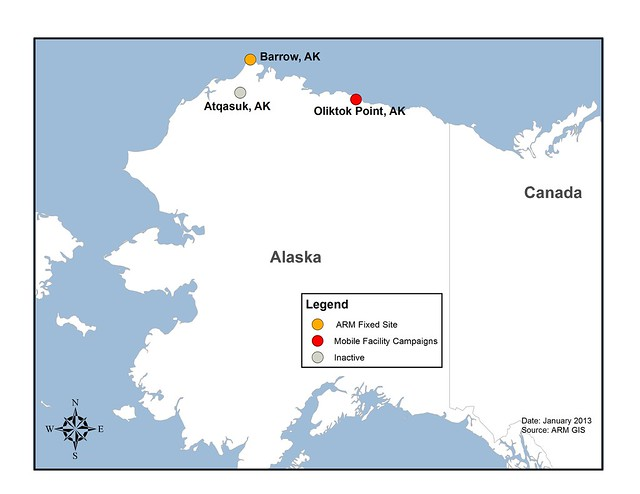 North Slope Of Alaska Site Map  This 2013 Map Shows The