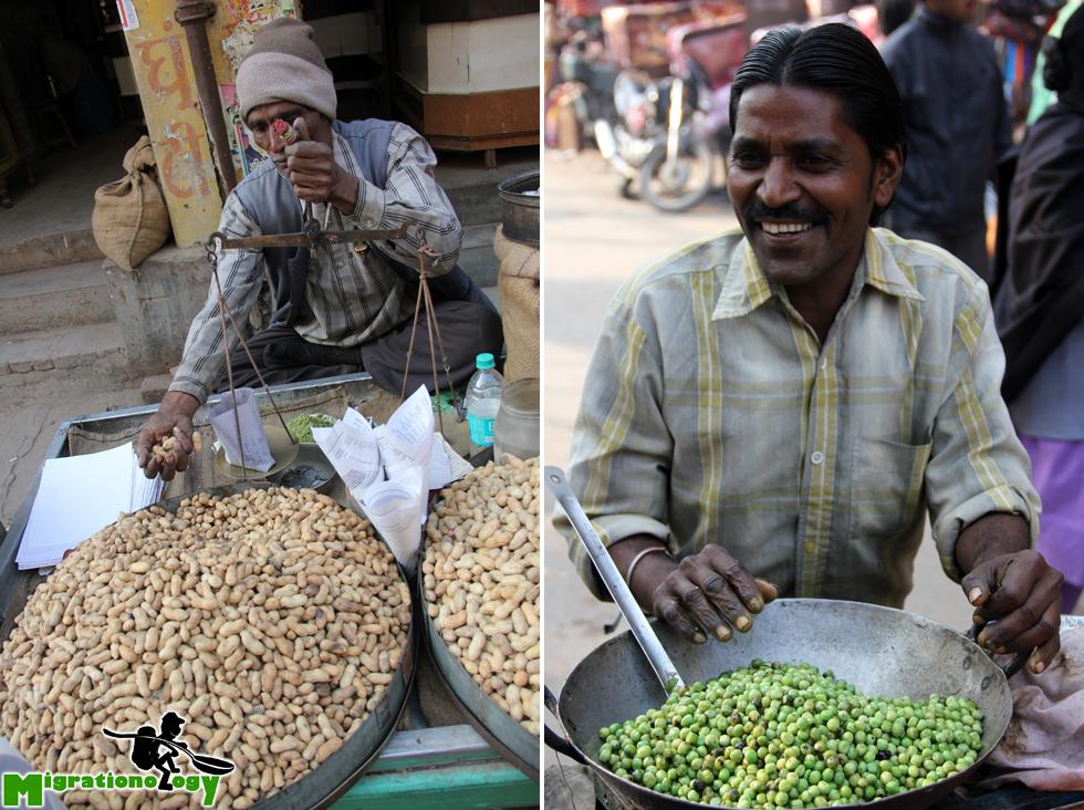 Peanut man and green pea man