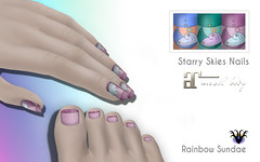 Rainbow Sundae - Nails!