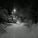 Snowy street by Antti Tassberg