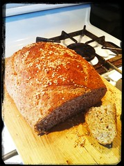 Mmmm.... Homemade multigrain Pane Italiano!