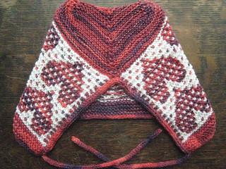 EZ mosaic heart hat