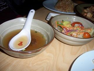 Mushroom Soup & Salad