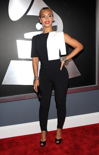 Beyonce. Premios Grammy, versión 55, febrero 10 de 2013, Staples Center, Los Angeles, California, Estados Unidos. Foto cortesía Canal TNT.