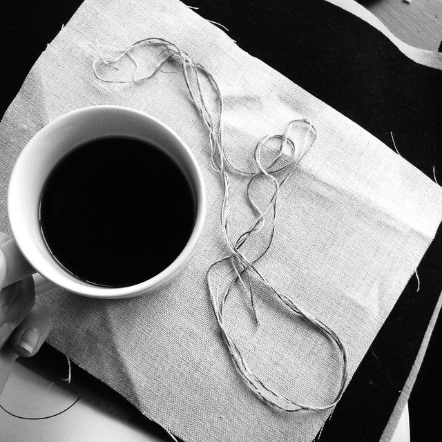 Coffee and floss blending. This is what good mornings are made of.