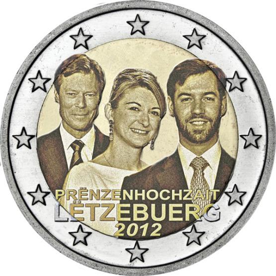 2 Euro Luxemburgsko 2012, Svadba