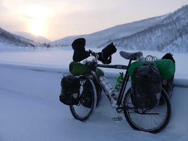 Winter cycle touring in the Scandanavian arctic
