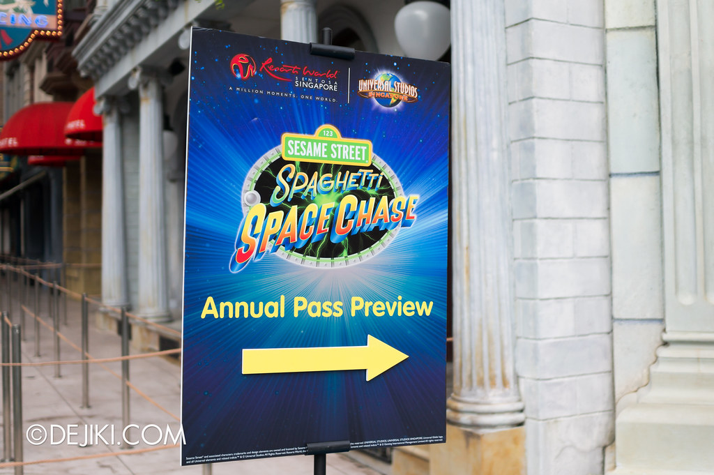 Sesame Street Spaghetti Space Chase - Preview Sign