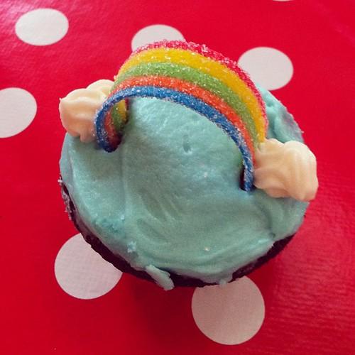 Rainbow cupcakes!