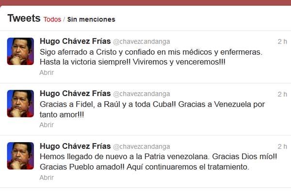 Regreso de Chávez