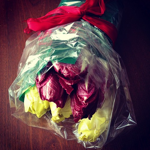 Endive Valentine's bouquet by Cookin' Canuck