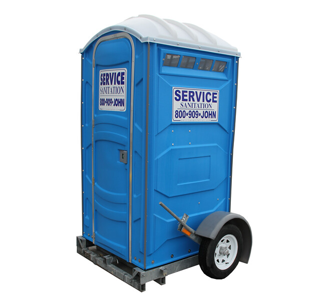 Porta potty trailer flickr photo sharing for Porta johns for sale