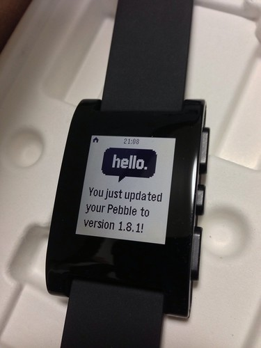 Pebble, updated to 1.8.1