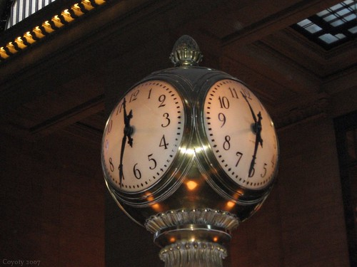 Grand Central Terminal clock by Coyoty