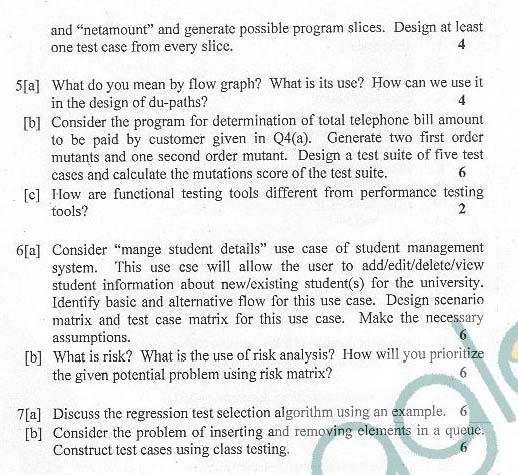 DTU: Question Papers 2012 - 6 Semester - End Sem - SW-311