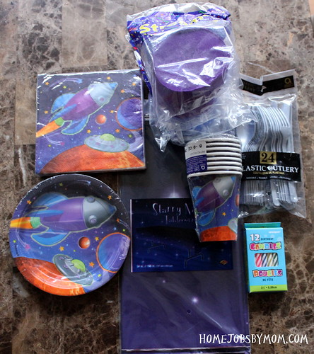 outer space birthday party supplies
