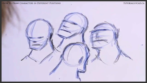learn how to draw characters in different positions 011