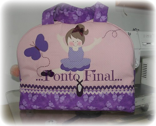 ...Bolsa para balé... by Ponto Final - Patchwork