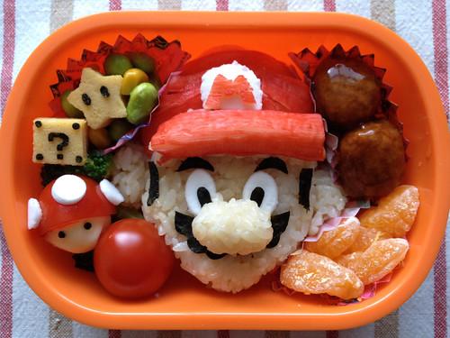 [フリー画像素材] 物・モノ, 食べ物, お弁当, スーパーマリオブラザーズ ID:201303011200