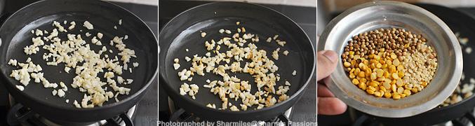 How to make garlic rice - Step1