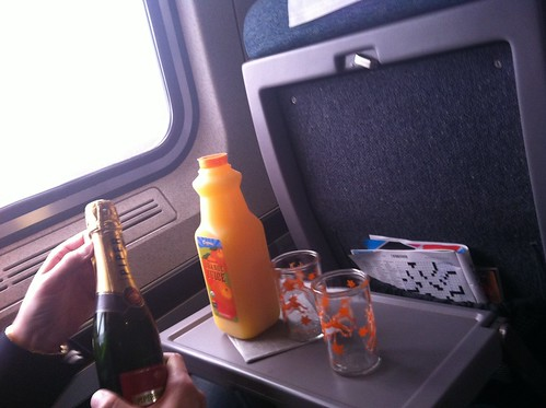 mimosas on the train to DC