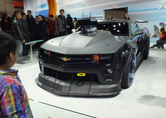 chevrolet, automobile, automotive exterior, exhibition, wheel, vehicle, automotive design, auto show, land vehicle, chevrolet camaro, sports car, motor vehicle,