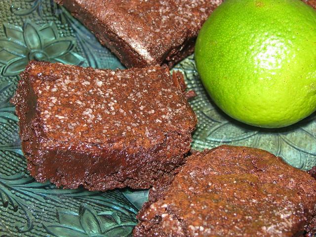 Dark chocolate, lime & sea salt brownies | Flickr - Photo ...