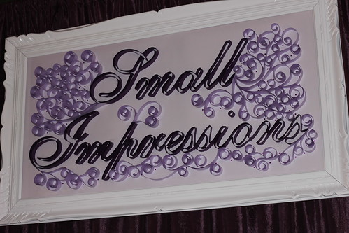 quilled company logo signboard
