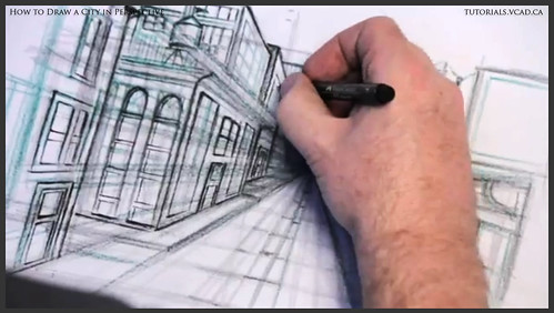 learn how to draw city buildings in perspective 025