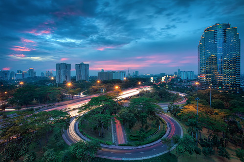 city longexposure travel pink trees sunset sky urban storm slr tower skyline clouds digital skyscraper photoshop canon buildings indonesia eos lights java photo asia southeastasia cityscape skyscrapers traffic cloudy dusk muslim capital towers trails stormy jakarta photograph processing 5d lighttrails bluehour westjava dslr indonesian hdr highdynamicrange islamic urbanlandscape mkii markii traffictrails postprocessing travelphotography photomatix republicofindonesia republikindonesia thefella 5dmarkii conormacneill jakartacapitalregion thefellaphotography