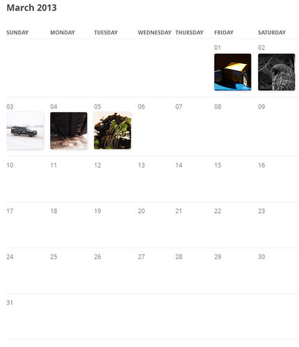 365 mosaic html calendar generator on flickr application sharing