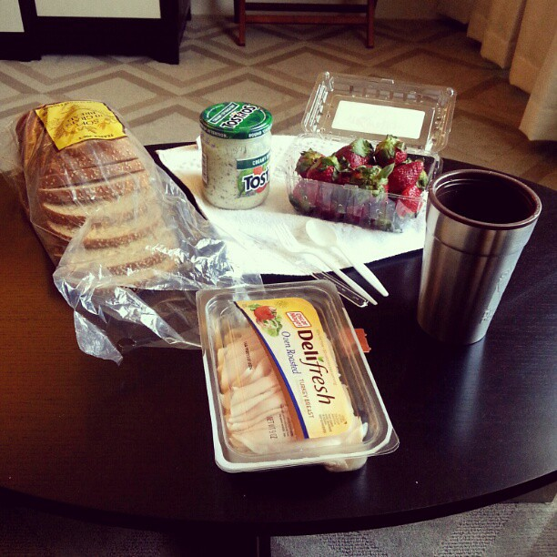 Today's breakfast. Yes, with Tostitos dip. #WashingtonDC
