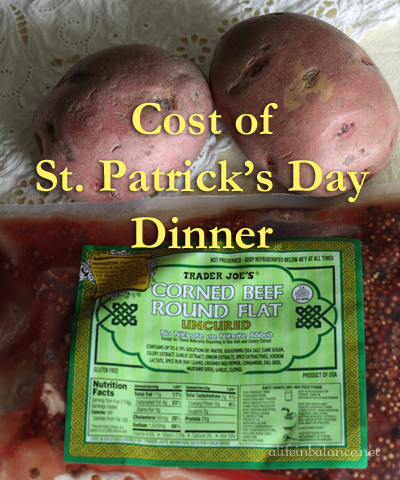 pricebook: st. patrick's day dinner