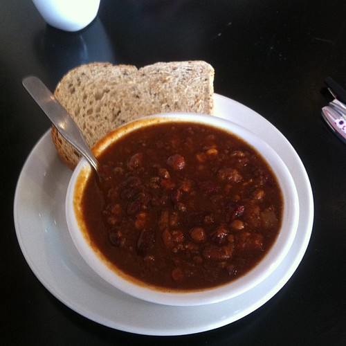 Chili at Wild Earth #yegfood by raise my voice