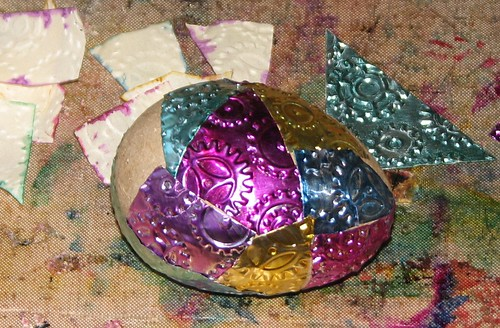 Steampunk Easter Egg Basket & Eggs 012