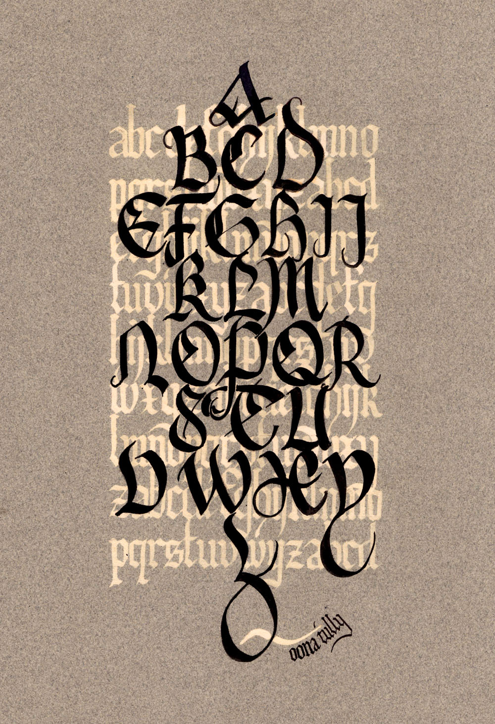 Modern Calligraphy Alphabets Tully calligraphy's