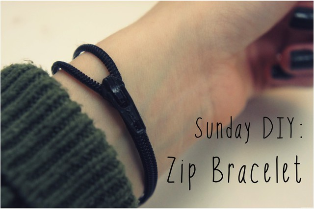 sunday diy zip bracelet 1