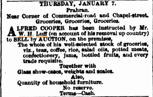 5 January 1875 The Argus (Melbourne) selling up again