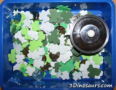St. Patrick's Day Sensory Bin (Photo from 3 Dinosaurs)