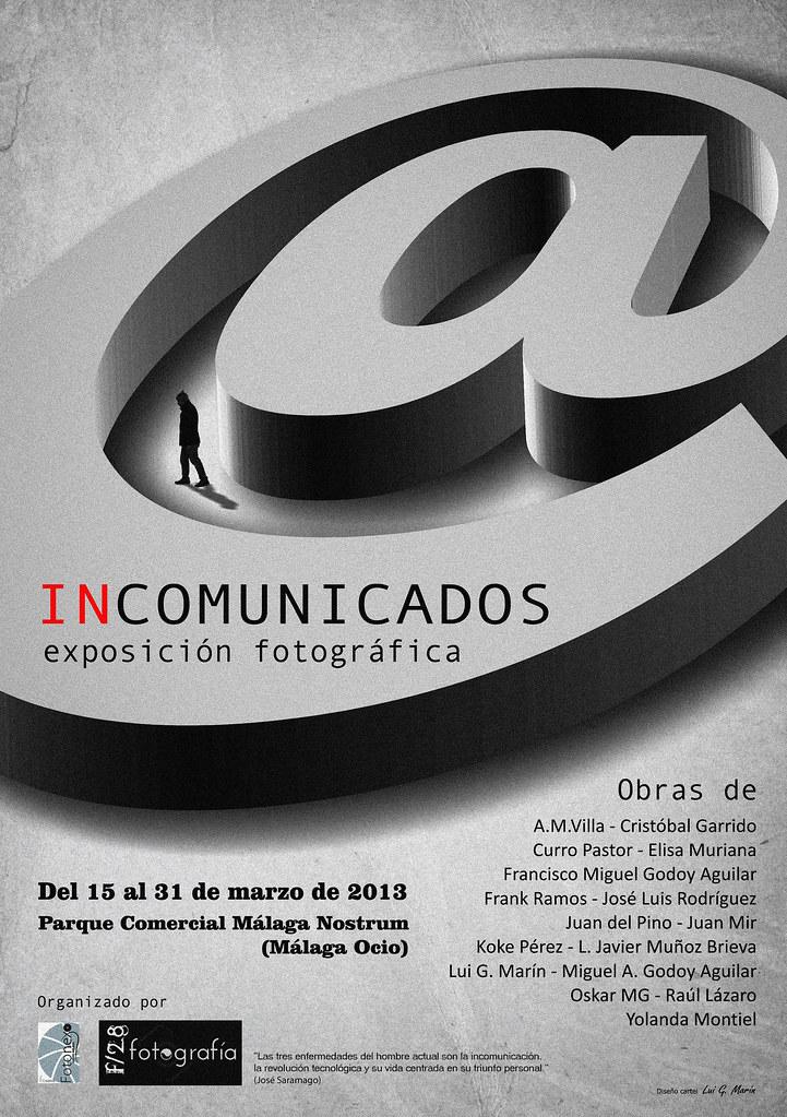 INCOMUNICADOS - EXPOSICIÓN FOTOGRÁFICA (cartel original)