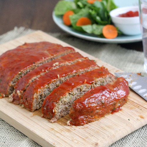 Turkey Meatloaf with Brown Sugar-Ketchup Glaze | Tracey's Culinary ...