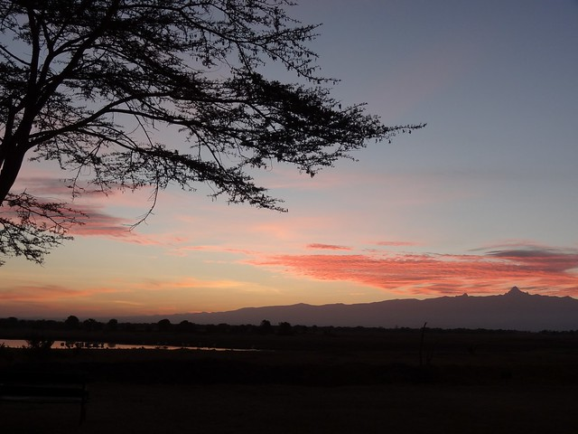 Sunrise View of Mount Kenya from Sweetwaters