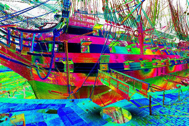 False colour image of 3D Laser scan data